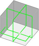 5ラインのレーザーのレーザー照射図