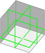 フルラインレーザーのレーザー照射図